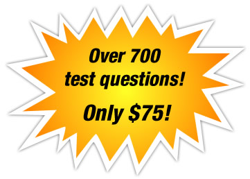 Over 700 test questions for only $75!